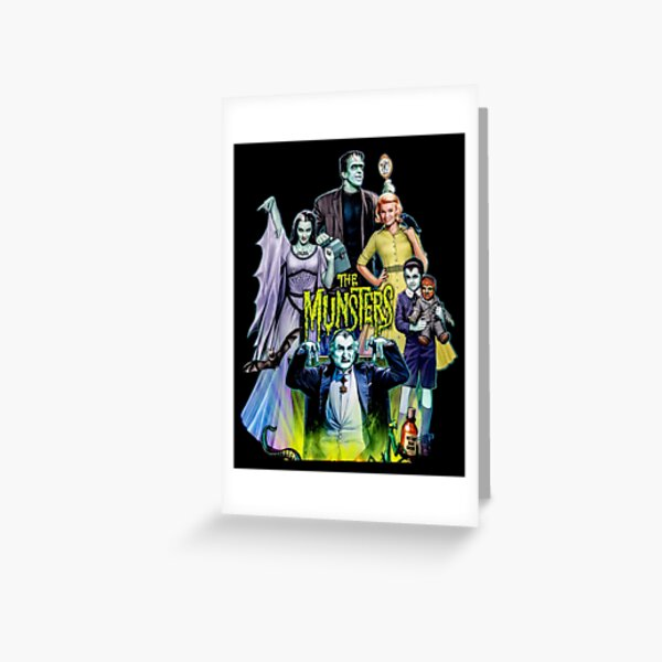 THE MUNSTERS FAMILY PORTRAIT Greeting Card