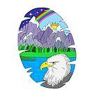 Eagle mountain scene by Melanie Jeyakkumar
