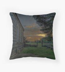 Lutheran Church Sunset Throw Pillow