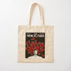 NEW YORKER : Vintage Monarch Butterfly Magazine Print Cotton Tote Bag