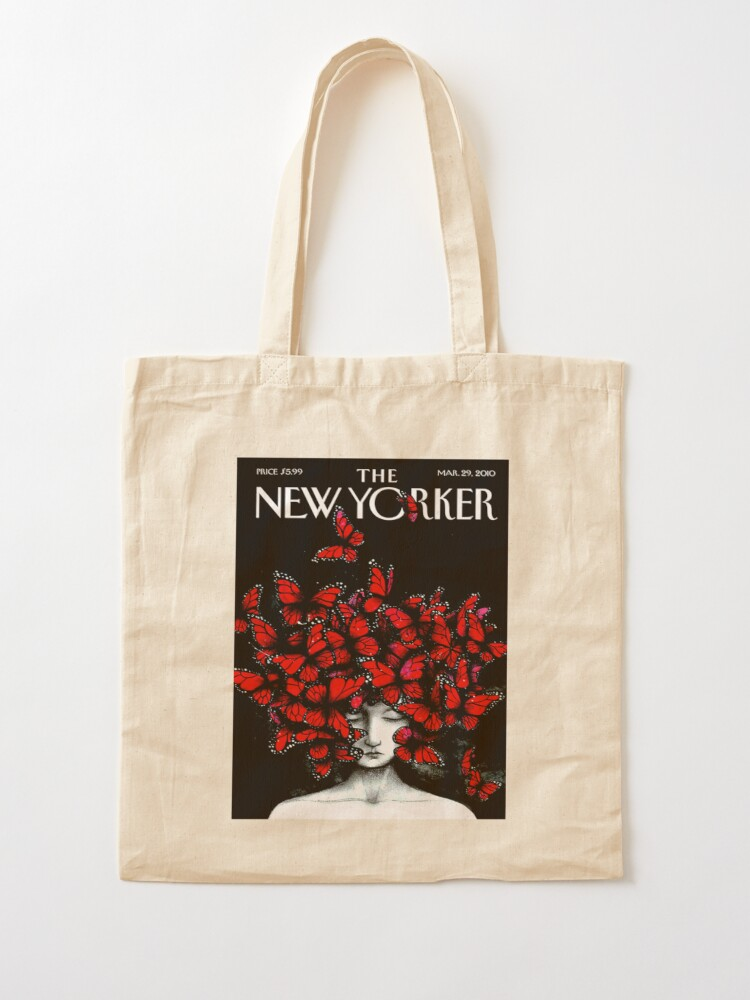 Alternate view of NEW YORKER : Vintage Monarch Butterfly Magazine Print Tote Bag
