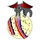 Evil magic moon cat by Melanie Jeyakkumar
