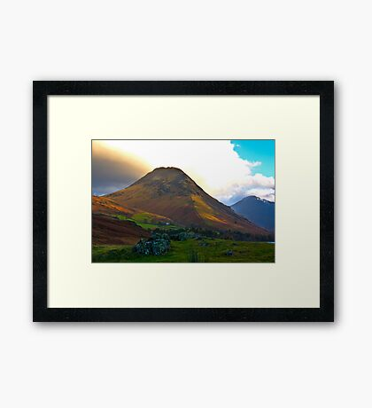 High Fell above Wast Water. Framed Print