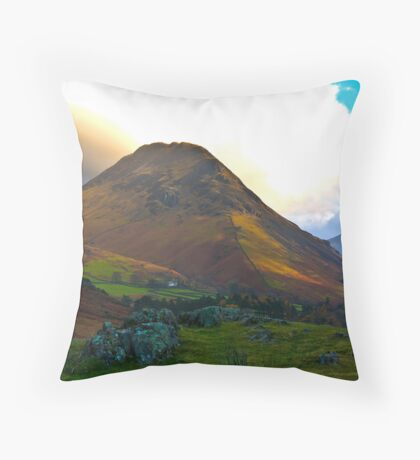 High Fell above Wast Water. Throw Pillow