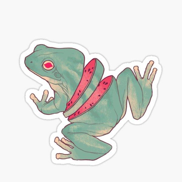 Watermelon Frog Sticker