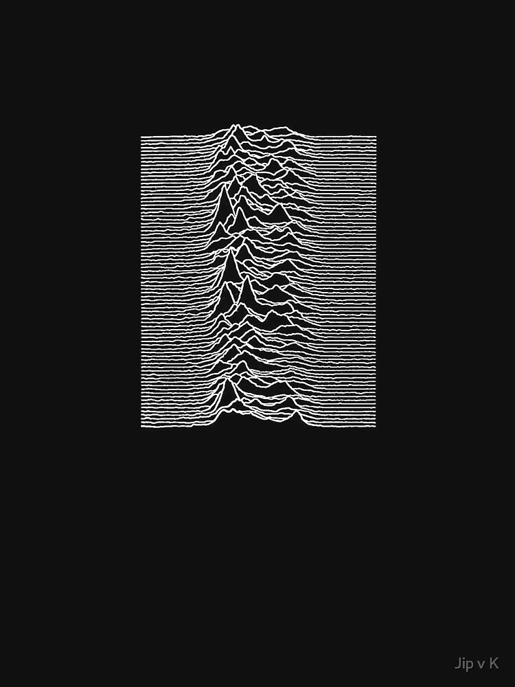 Unknown Pleasures - Joy Division white | Unisex T-Shirt