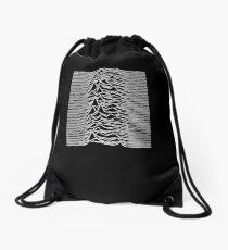 Unknown Pleasures - Joy Division white Drawstring Bag