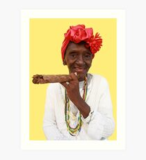 It's all in the Cuban smile Art Print