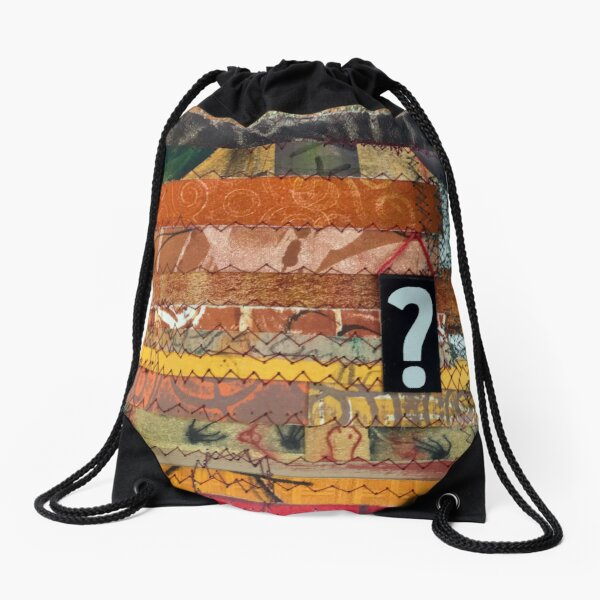 All destiny is determined by shape Drawstring Bag