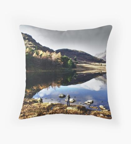 Mr Smith thinking of Paddling Throw Pillow