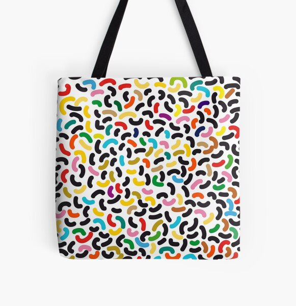 colored worms All Over Print Tote Bag