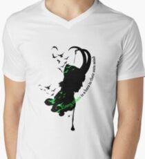 A Villian is a hero T-Shirt mit V-Ausschnitt