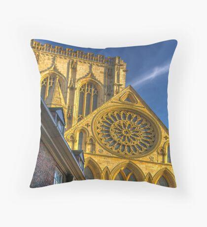 A Closer View of the Rose Window - York Minster Throw Pillow