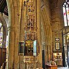 ST Wulframs Church Font Grantham,England by Ray Clarke