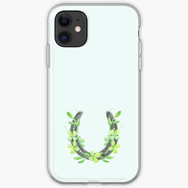 Lucky Horseshoe and Clover iPhone Soft Case