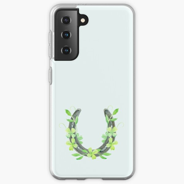 Lucky Horseshoe and Clover Samsung Galaxy Soft Case