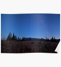 Milky Way in Beartooth Mountains Poster
