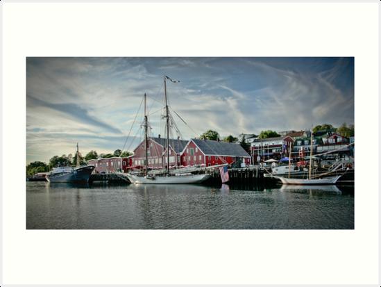 Lunenburg Harbour, NS by Scott Ruhs
