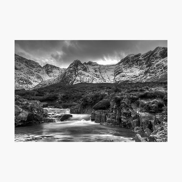 The Fairy Pools and Cuillins Isle of Skye Photographic Print