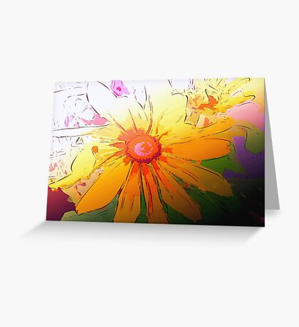 Sunflower in simple lines Greeting Card