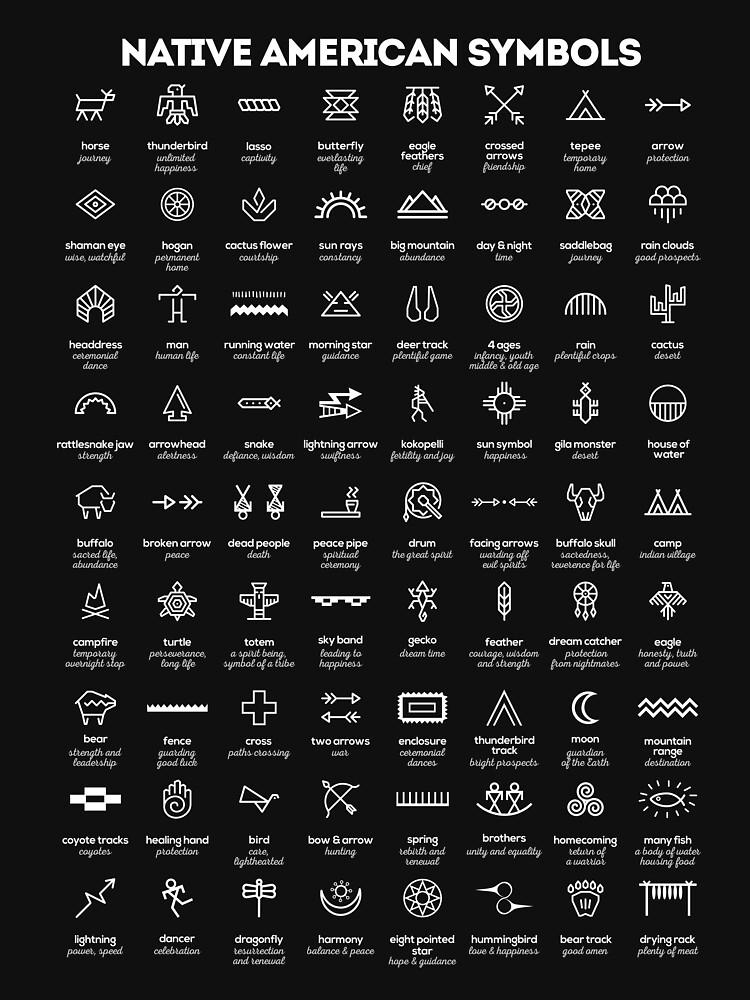 Symbole der amerikanischen Ureinwohner von innasoyturk