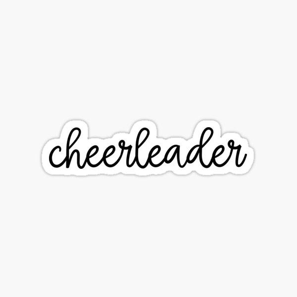 Cheerleader Sticker! Sticker