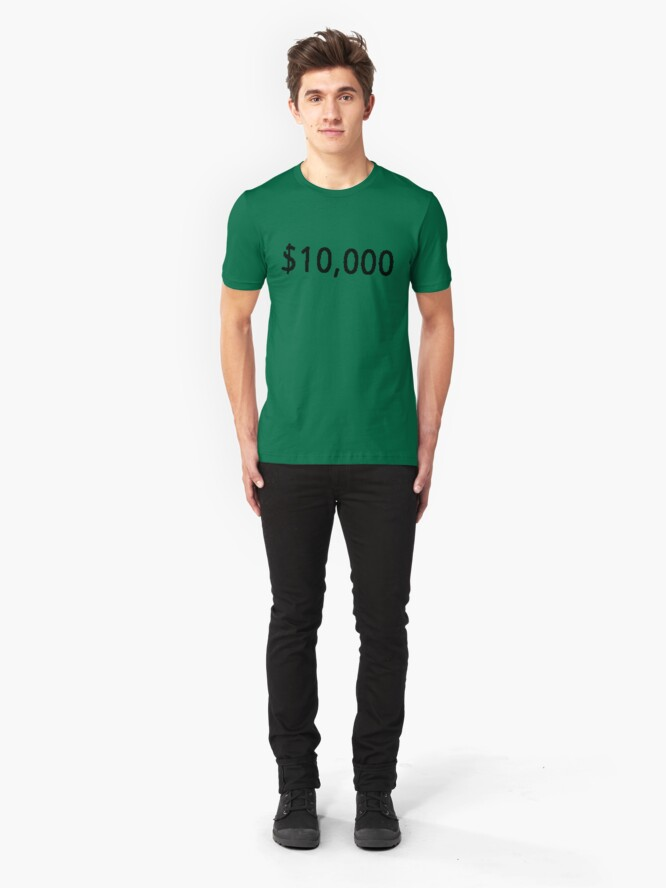 Alternate view of $10, 000. Slim Fit T-Shirt