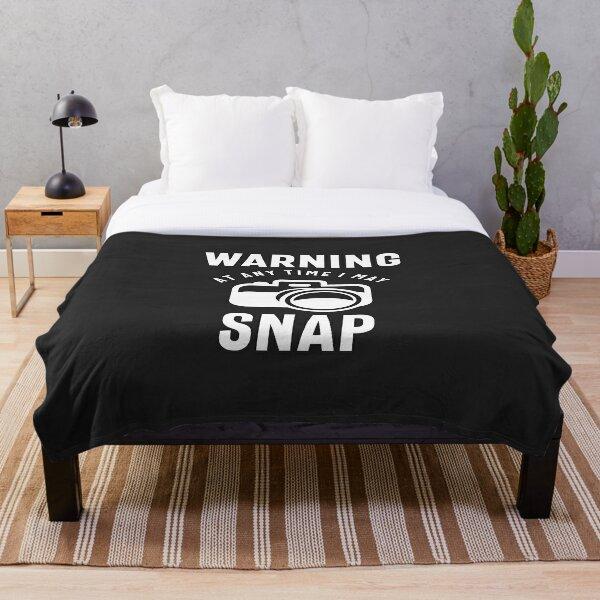 Warning - At Any Time I May Snap Throw Blanket