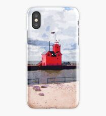 Lake Michigan Lighthouse iPhone Case