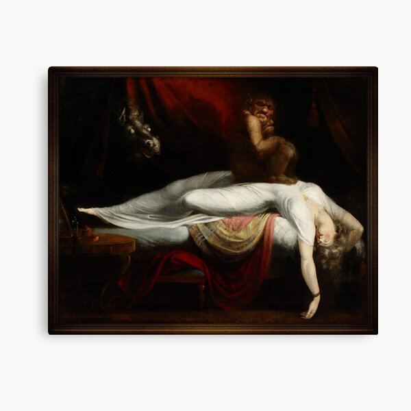 The Nightmare by Henry Fuseli Old Masters Reproductions Canvas Print