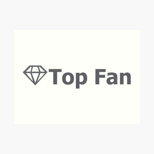 Facebook's Top Fan Badge Art Print