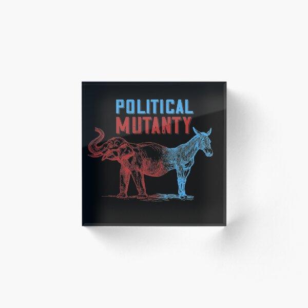 Political Mutanty - Funny Elephant Donkey Mashup Acrylic Block