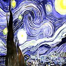 Starry Night Van Gogh Painting Print by CreatedProto