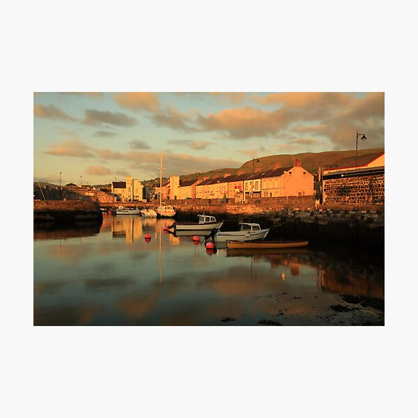 Carnlough Harbour, N. Ireland.  Photographic Print