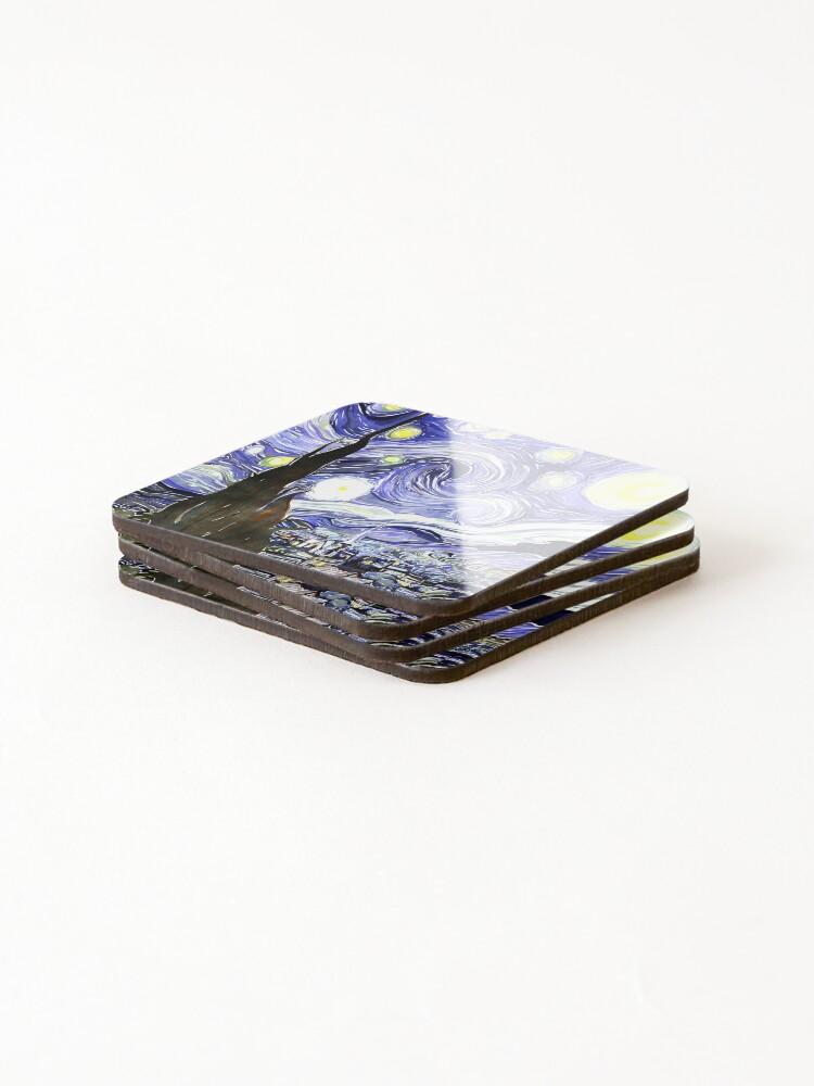 Alternate view of Vincent Van Gogh Paintings Starry Night Coasters (Set of 4)