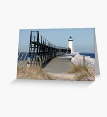 Manistee Lighthouse Greeting Card