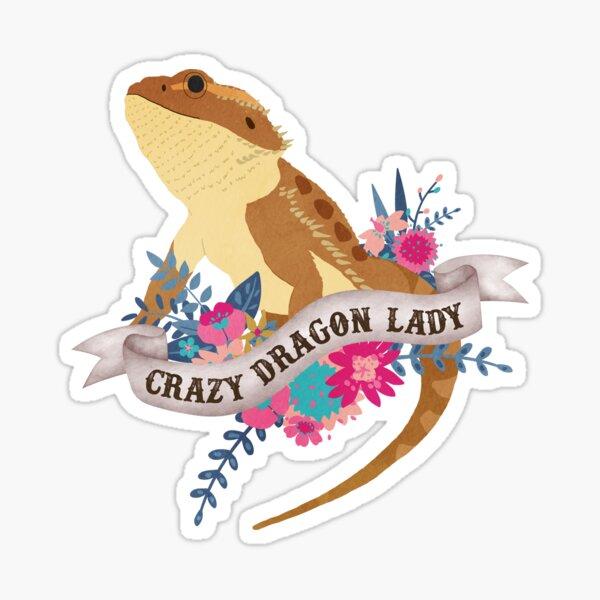 Crazy Dragon Lady  Sticker
