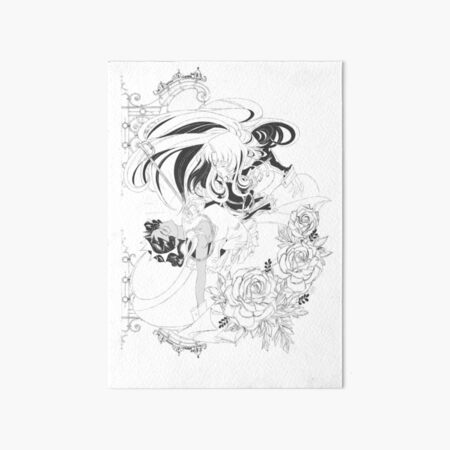 Revolutionary Girl Utena Manga Style Art Board Print