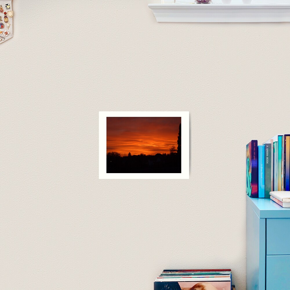 Jovian Sunset Art Print