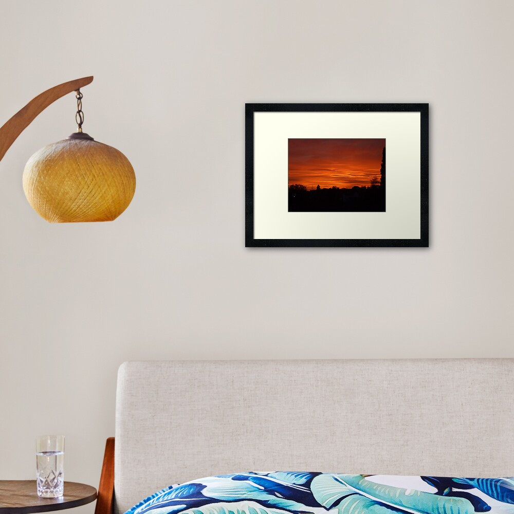 Jovian Sunset Framed Art Print