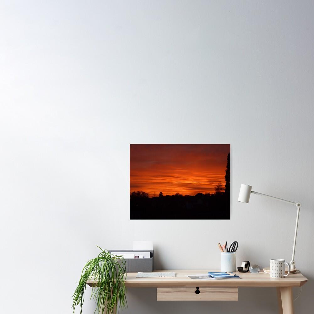 Jovian Sunset Poster
