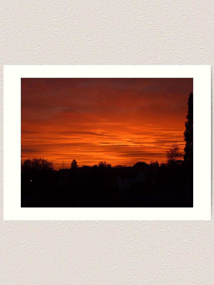 Alternate view of Jovian Sunset Art Print