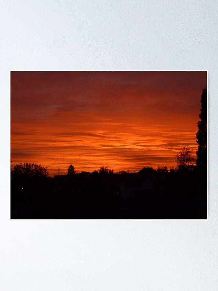Alternate view of Jovian Sunset Poster