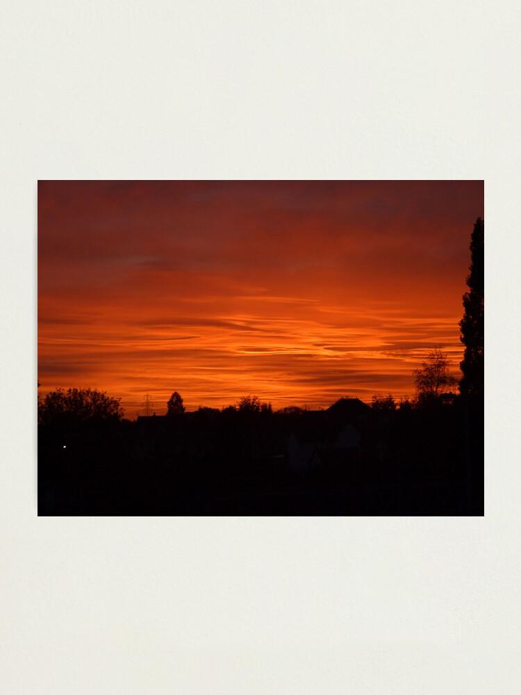 Alternate view of Jovian Sunset Photographic Print