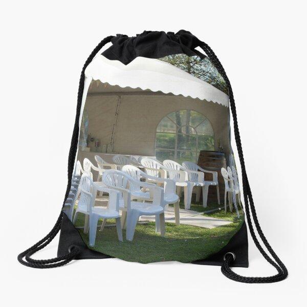 Winter Wedding  - Adelaide Hills Wedding, Fleurieu Peninsula Wedding by South Australian artist Avril Thomas Drawstring Bag