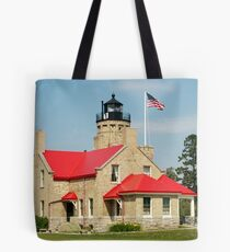 Old Mackinac Point Lighthouse Tote Bag