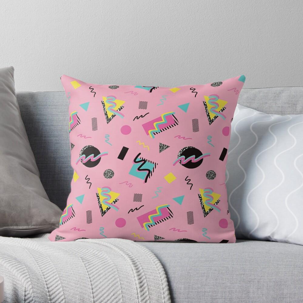 Postmodern Slumber Party Throw Pillow