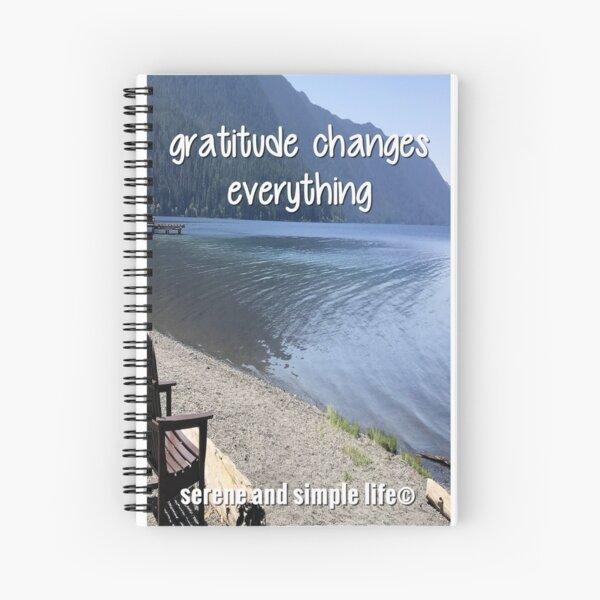 gratitude changes everything spiral journal Spiral Notebook