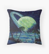 The Green Planet Throw Pillow