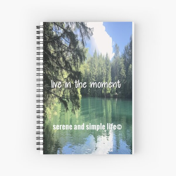 live in the moment spiral journal Spiral Notebook